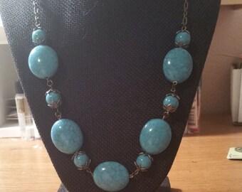 Turquoise Big Stone Necklace