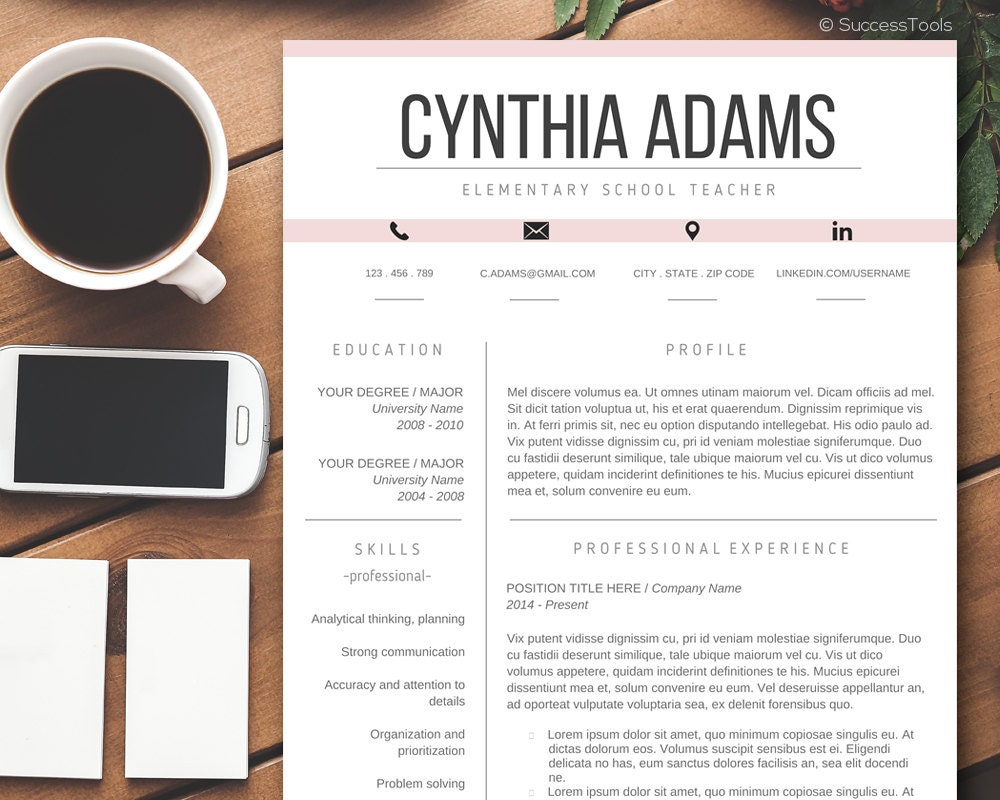 zoom - Contemporary Resume Format