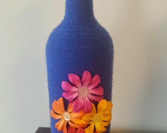 Wine Bottle Vase - UPCYCLE