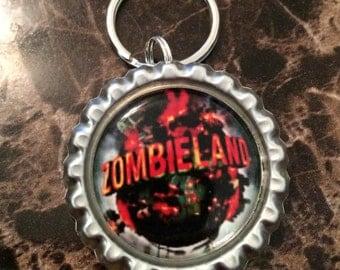 Zombieland Bottle Cap Keychains