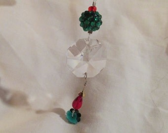 Antique Leaded Crystal Christmas Ornament