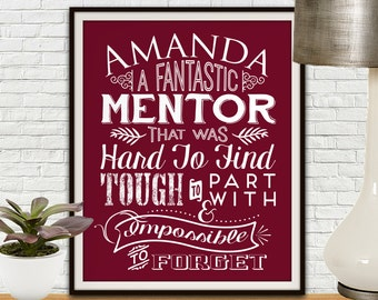 Custom Mentor Print, Mentor Gift, Mentor, Gift For Mentor, Teacher Gifts, Teacher Appreciation Gift, Professor Gift, Custom Print, Printable