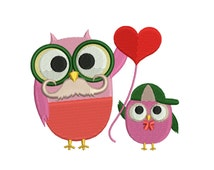 I Love Father Embroidery Design | My Father Machine Embroidery Pattern | Owl Embroidery Pattern | Father's Day Embroidery Design