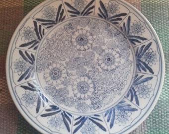 Vintage Blue and White plate - 10 inches