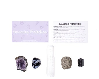 Protection Crystal Set / Crystals For Protection / Protection Crystals  / Healing Crystal Set / Stones For Protection  / Protective Stones
