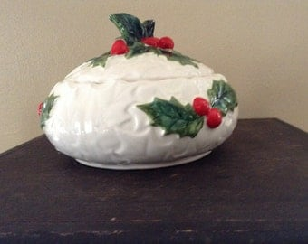 Lefton Holiday Candy Dish