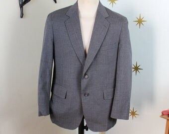 CLEARANCE! Vintage 1950s gray 2 button suite jacket medium 383