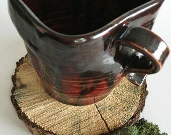 Metallic Lava Mug with Form Fitting Handle