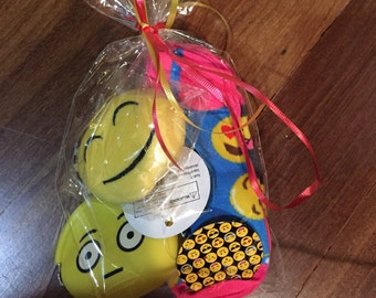 Emoji Party favor Party bag socks, keychain, coin purse