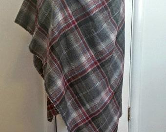 Cozy Women's Grey Spring and Fall Jacket, Wrap Shawl, Light Jacket, Shawl