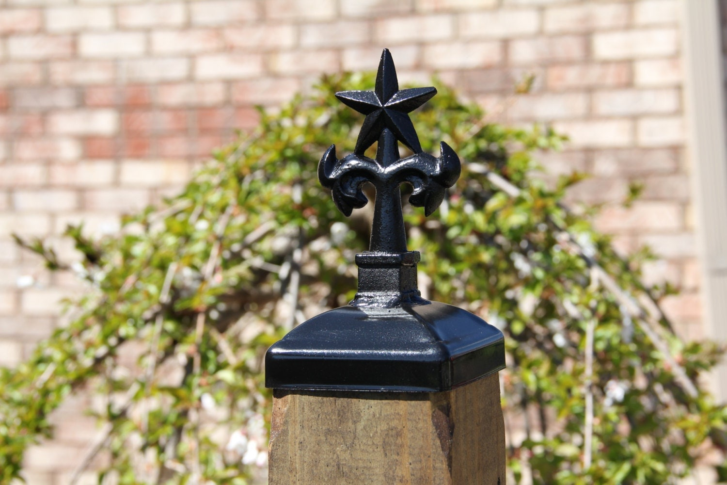 4x4 Wood Post Cap Wrought Iron Texas Star Post Top Caps For