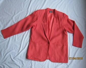 Vintage 1990s, coral summer lightweight jacket, size Medium