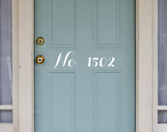 Door Number Decal
