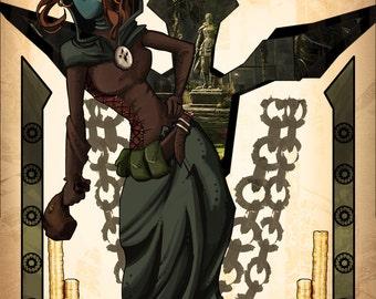 Thieves Guild Poster // Elder Scrolls Artwork // Pinup thief girl // Game paintings