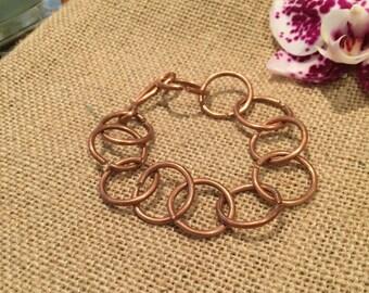 """Copper """"Ring"""" Bracelet"""