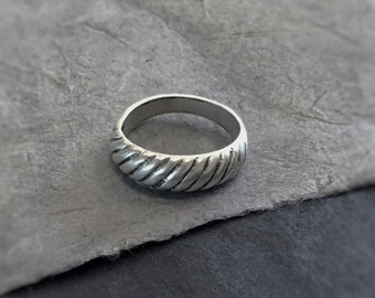 Silver Ring, Woven Ring, Cable Band, Sterling Silver Ring, Silver Jewelry, Wedding Band, Silver Wedding Band