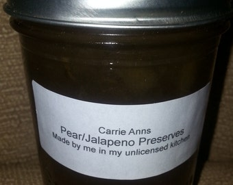 Pear/Jalapeno Preserves