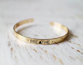 Breathe Hand Stamped Bracelet