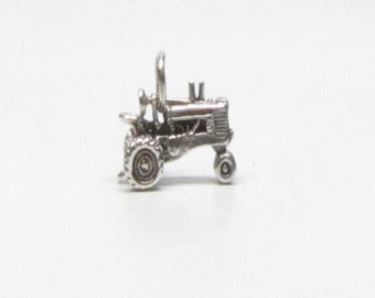 FARM WIFE GIFT, Tractor, Charm, Sterling Silver, Barn Wedding, Rustic Wedding, Gift for Her, Necklace, Charm Bracelet, Farm Girl, Country