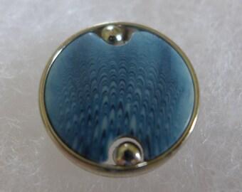 3 Buttons - metal, plastic blue - 22 mm