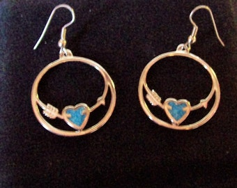 Vintage Turquoise Chip Earrings