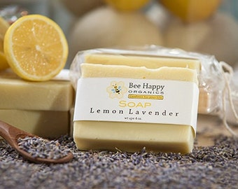SOAP~Lemon Lavender~Organic Soap~Cold Process Soap~Handmade Soap~Gift