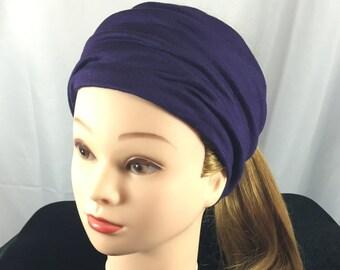 Purple Running Headband, Yoga Headband, Fitness Headbands, Wide Headband, Nonslip Headband, Cloth headband, Women's headband, Gift for her