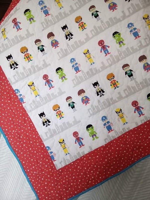 Baby Gift Quilt : Baby quilts superhero quilt shower gift by qforquilts