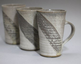 grey mug set, pottery mugs,  coffee mug ceramic, tea cup pottery, ceramic coffee cup, ceramic tea cup, stoneware mug, teacup