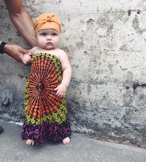 Block Print Baby Maxi 3 6 months Bohemian Baby Baby Fashion