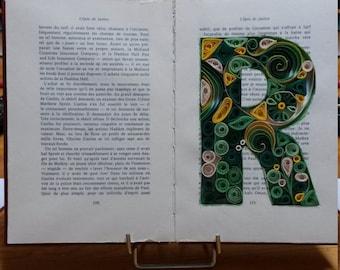 Monogram custom book - Quilling