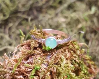Sterling Silver Chrysoprase Ring