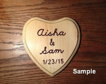 Wood-burned plaque made by hand, customized for you.  Price is an estimate.