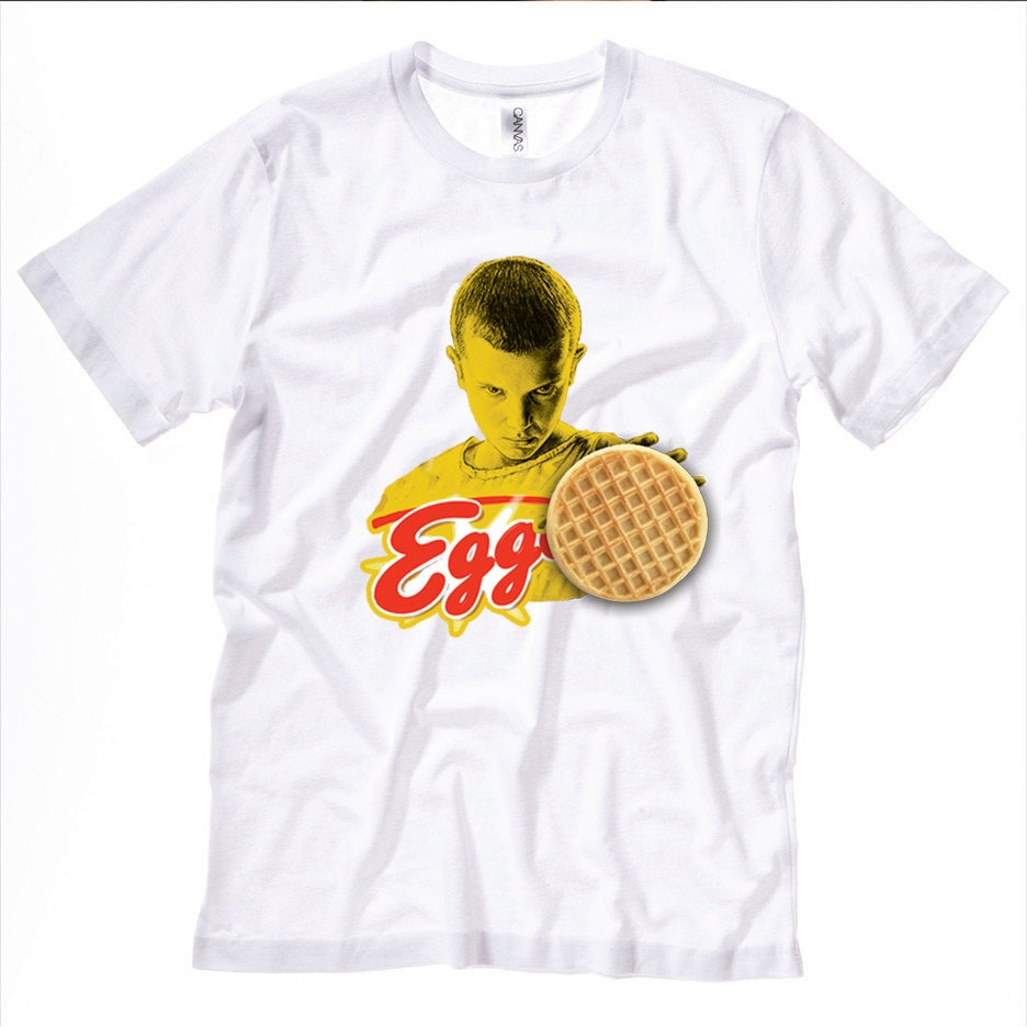 stranger things waffles t shirt. Black Bedroom Furniture Sets. Home Design Ideas