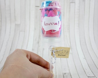 Push-pop - this listing is good news - confetti - announcement pregnancy - wedding - request witness - Godfather - godmother