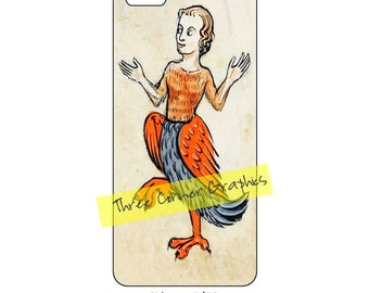iPhone 5 printable case design (Medieval chicken lady); DIY print at home iPhone accessories for 5, 5S, or SE