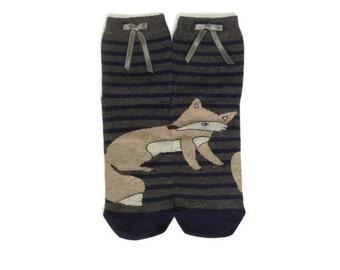 Fox Socks, Animal Socks, Fun Funny Socks, Women Socks, Casual Cotton Socks, Leg Warmer, Boot Socks, Cute Novelty Socks, Ankle Sock Hosiery