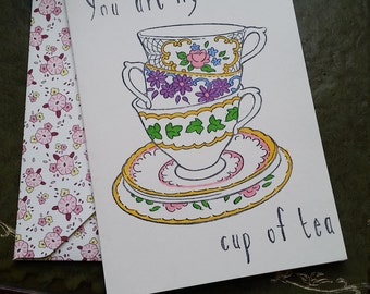 You Are My Cup Of Tea Anniversary Card