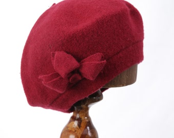 Red Hat Society Red Pure Wool Beret