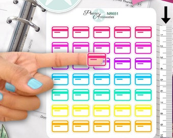 Clear Credit Card Stickers Bill Stickers Payment Stickers Planner Stickers Erin Condren Functional Stickers Decorative Stickers NR651
