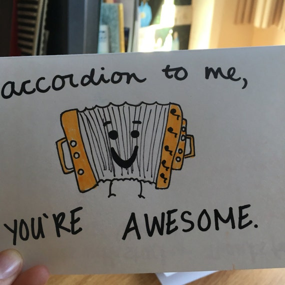 You Re Awesome: Items Similar To Accordion To Me, You're Awesome! On Etsy