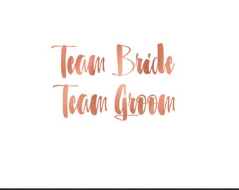 team bride team groom wedding rose gold clip art svg dxf file instant download silhouette cameo cricut digital scrapbooking commercial use