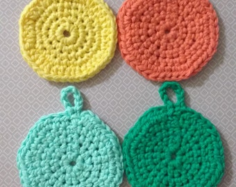 Crochet Face Scrubbies Set of 4
