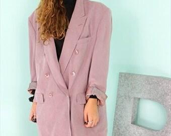 Purple Oldschool Masculin Jacket