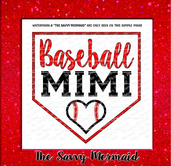 Baseball Mimi Svg Baseball Heart Svg Cut File Cricut Vinyl