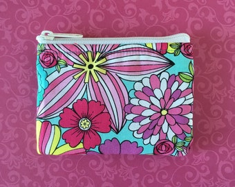 Floral Coin Bag // READY TO SHIP // Change Purse // Pouch