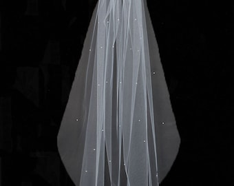 Pearl Sweetheart Wedding Veil