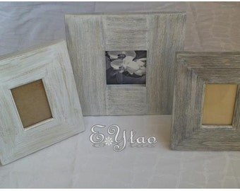 Trio brushed pine wood picture frame