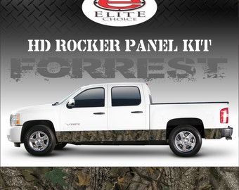 "Forrest Camo Rocker Panel Graphic Decal Wrap Truck SUV - 12"" x 24FT"