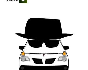 Heisenberg Logo Pontiac Aztek AMC Breaking Bad Walter White